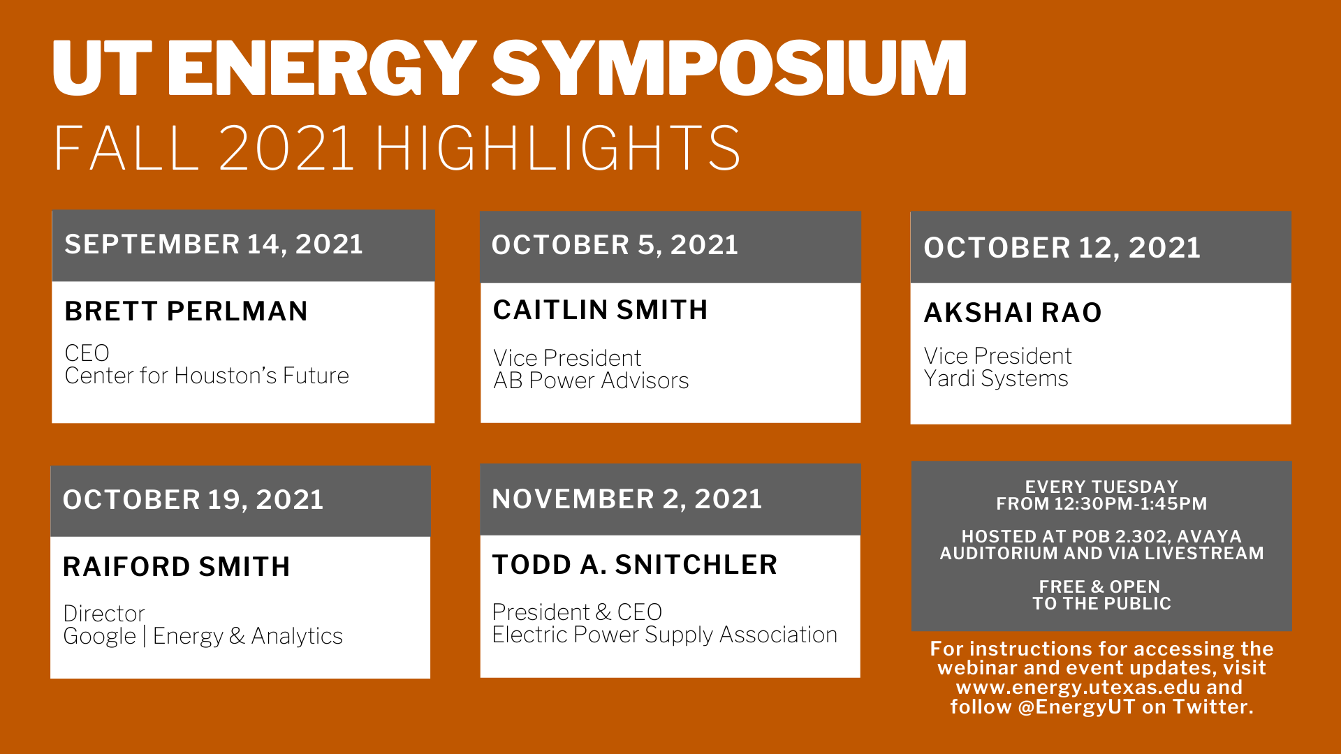decorative graphic highlighting a few of the talks listed below