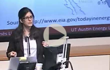 Inês Azavedo speaks at UT Energy Symposium