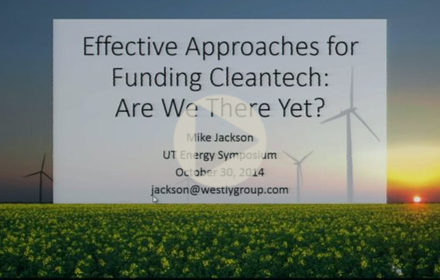 Title slide from Mike Jackson's presentation at UT Energy Symposium