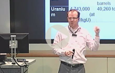 Benjamin Sovacool speaks at UT Energy Symposium