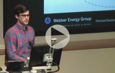 Thomas Deetjen speaks at UT Energy Symposium
