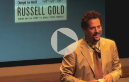 Russell Gold speaks at UT Energy Symposium