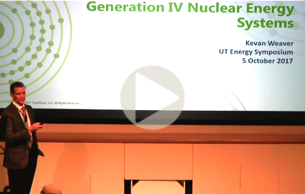 Kevan Weaver speaks at UT Energy Symposium