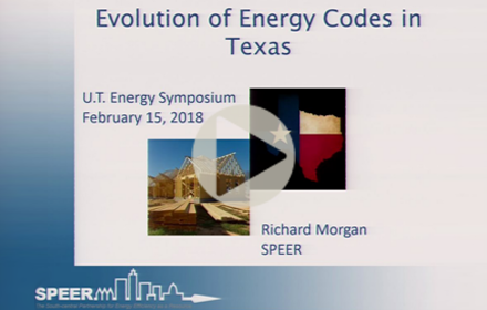 Title slide from Richard Morgan's presentation at UT Energy Symposium