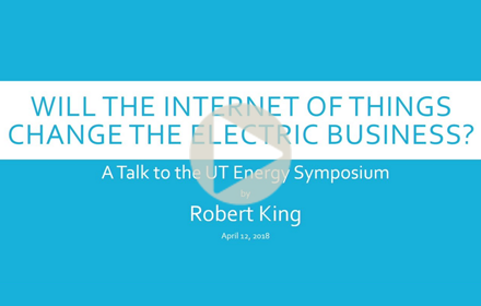 Rober King speaks at UT Energy Symposium